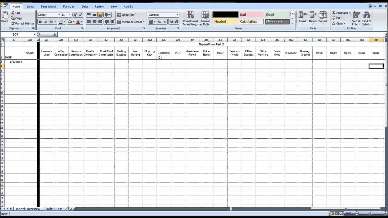 Free Ebay Inventory Spreadsheet Template