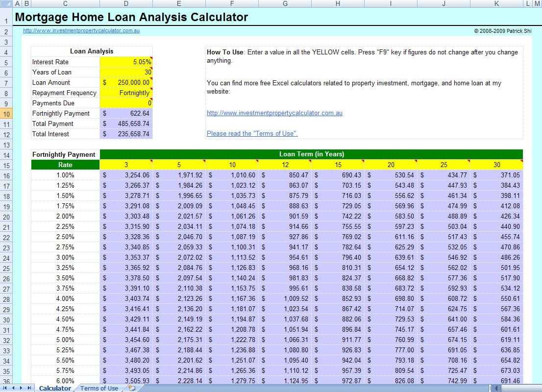 Free Excel Loan Spreadsheet Mortgage Spreadsheet Template Spreadsheet Templates for Busines Spreadsheet Templates for Busines Excel Mortgage Calculator With Extra Payments