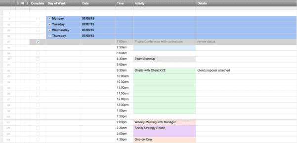 Free Excel Scheduling Spreadsheet Download