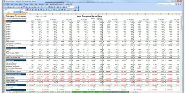 Free Financial Plan Template Excel
