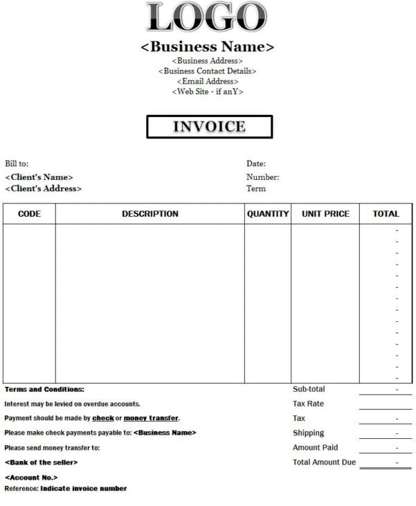 Free Invoice Templates Invoice Templates For Mac Spreadsheet Templates for Busines Microsoft Invoice Templates Mac