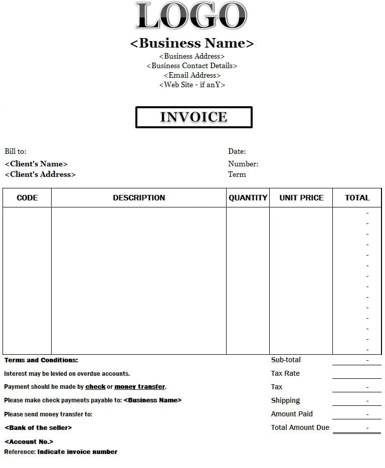 Free Invoice Templates Invoice Templates For Mac Spreadsheet Templates for Busines Spreadsheet Templates for Busines Invoice Template Excel Microsoft