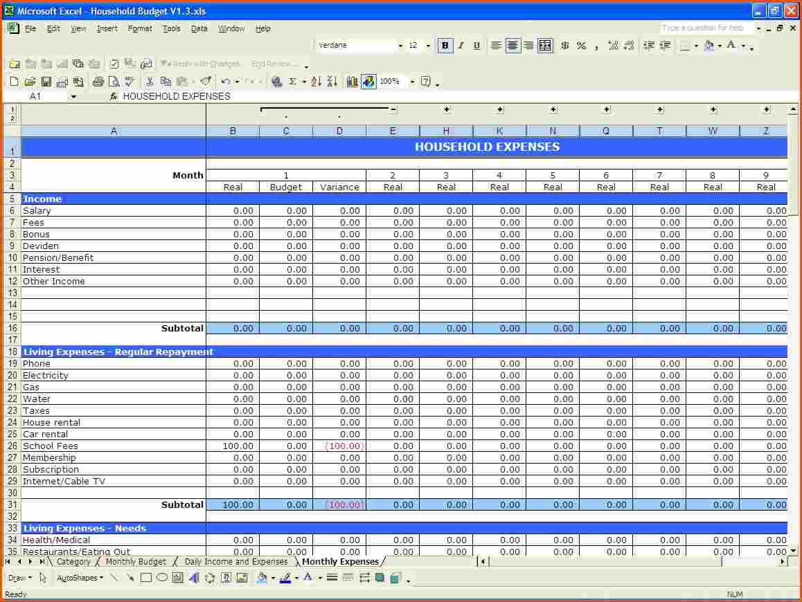 Free Monthly Budget Spreadsheet Template Budget Spreadsheet Spreadsheet Templates for Busines Spreadsheet Templates for Busines Free Monthly Budget Spreadsheet Template