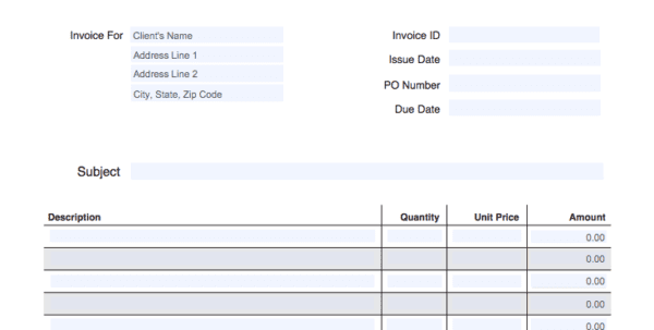 Free Online Invoice Templates For Mac