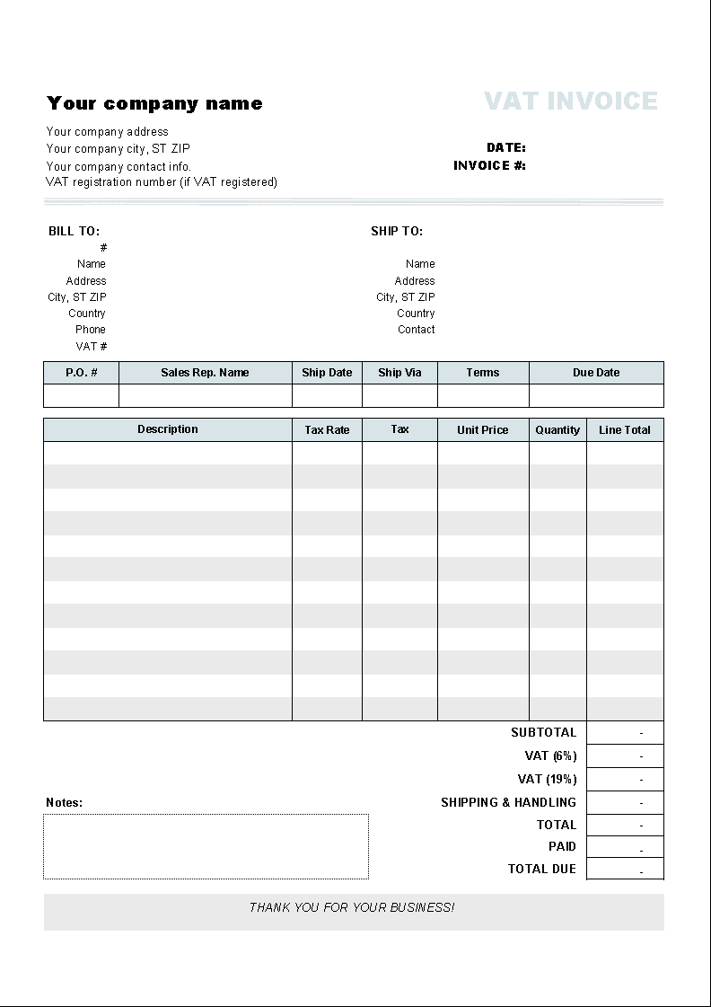 Freight Invoice Sample