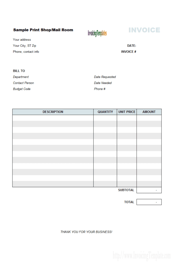 Handyman Invoices