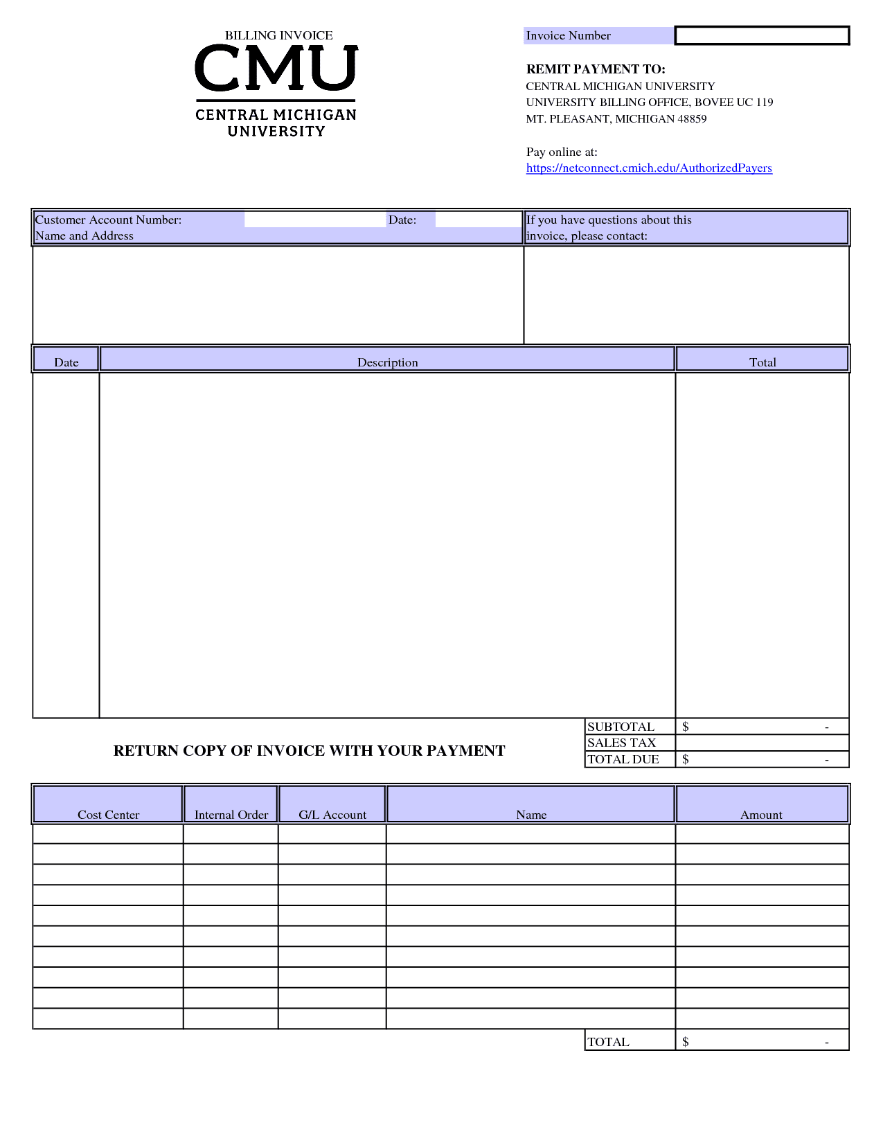 Hourly Invoice Template Mac