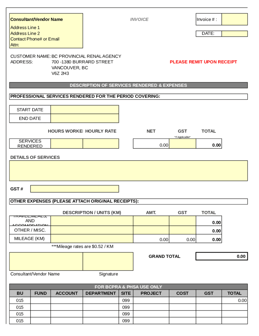 House Cleaning Receipt Pdf