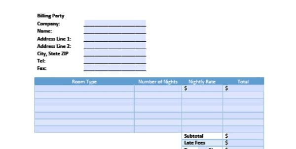 Hvac Invoice Template Excel