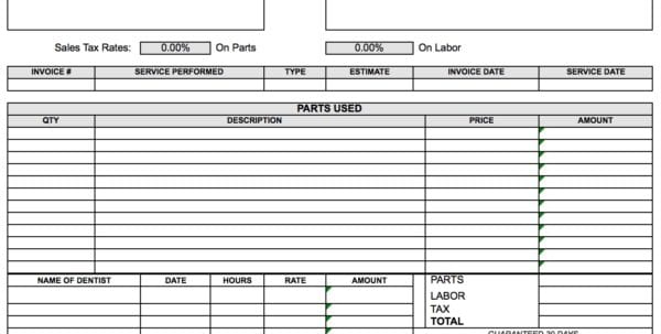 Invoice Excel Template Mac