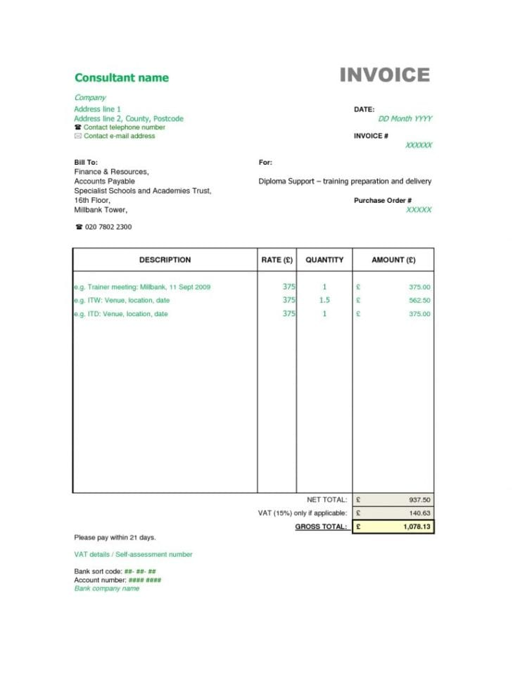 Sample Consulting Invoice Doc Template For Consulting Fee Schedule Sample Proposal For Consulting Services Free Consultant Report Template Consultant Invoice Microsoft Word Consulting Invoice Template Consultant Invoice Template Word Doc  Invoice For Consulting Services Consulting Invoice Spreadsheet Templates for Busines