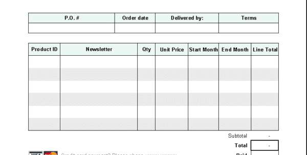 Invoice Format