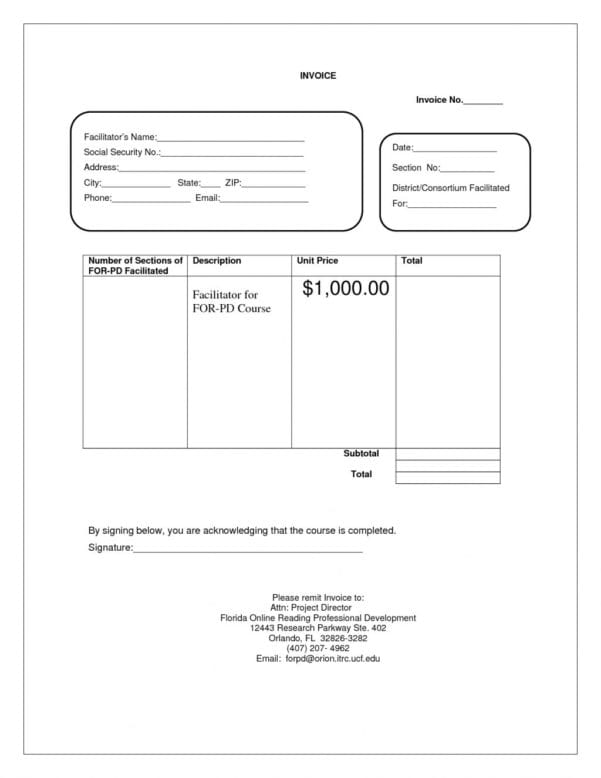 Invoice Template Excel