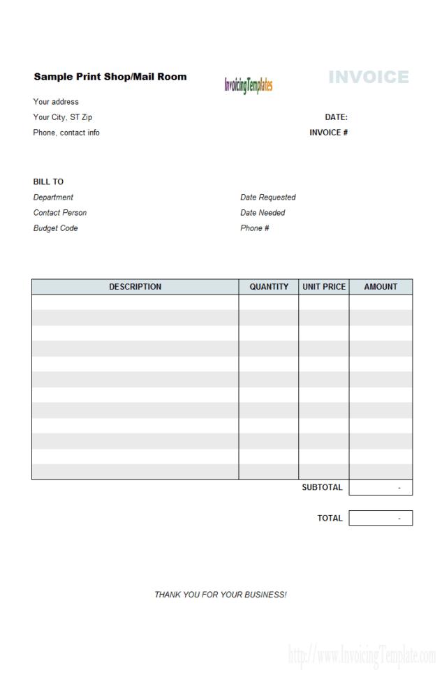 Invoice Template Microsoft Excel