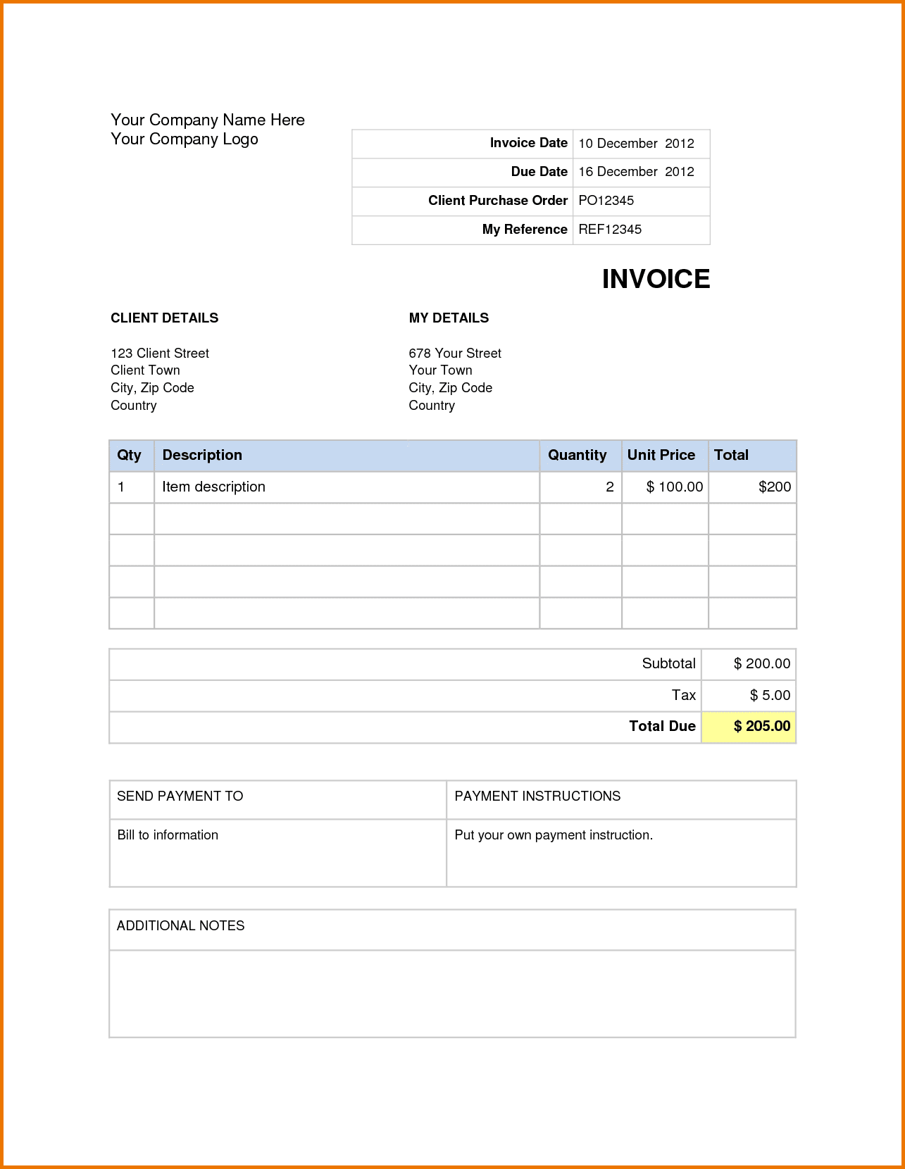 Invoice Template Microsoft Word 2007 Invoice Template Microsoft Word Spreadsheet Templates for Busines Spreadsheet Templates for Busines Free Invoice Template Microsoft Word 2007