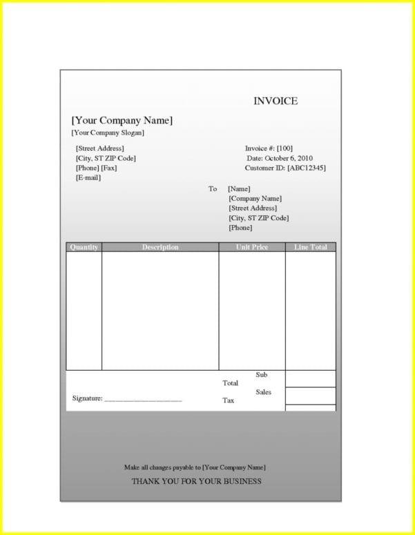 Invoice Template Quickbooks Online