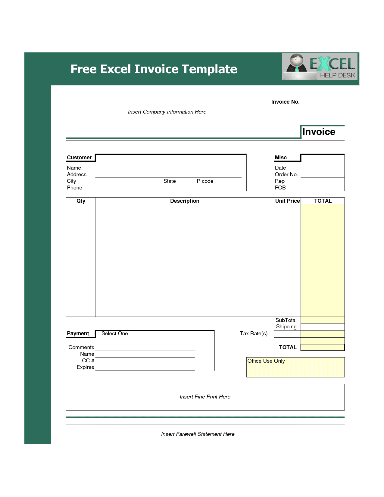 Invoice Template Word Download Free Invoice Template Excel Free Download Spreadsheet Templates for Busines Spreadsheet Templates for Busines Free Invoice Template