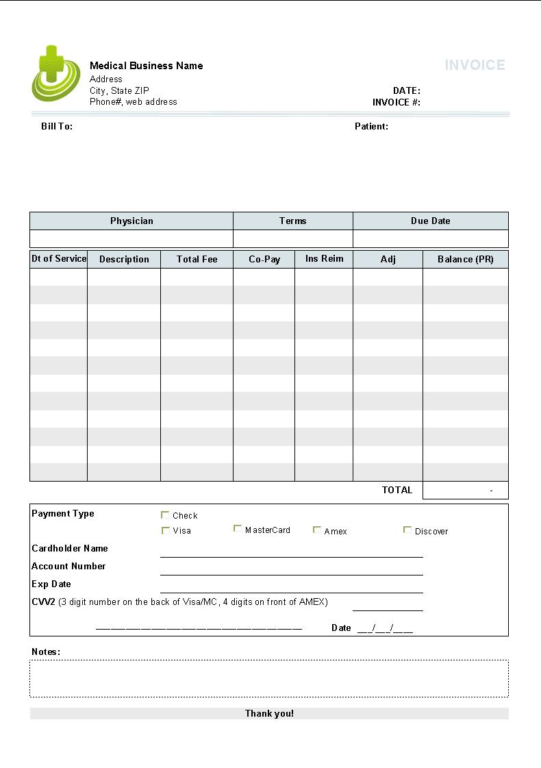 Job Invoice Example