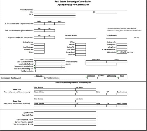 Labor Invoice Template Word