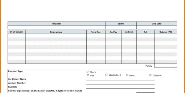 Medical Bill Format For Reimbursement
