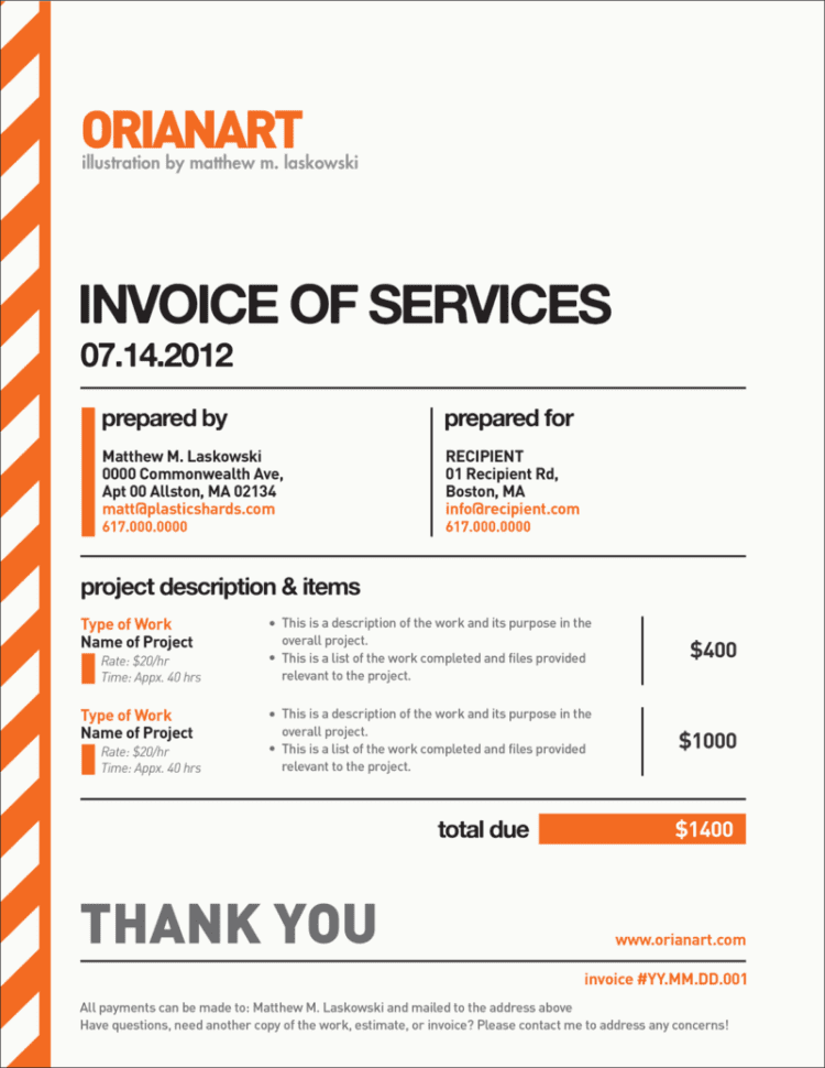 Medical Invoice Template Excel
