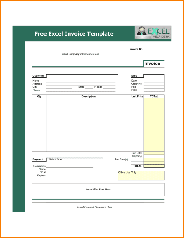 Microsoft Excel Quote Template