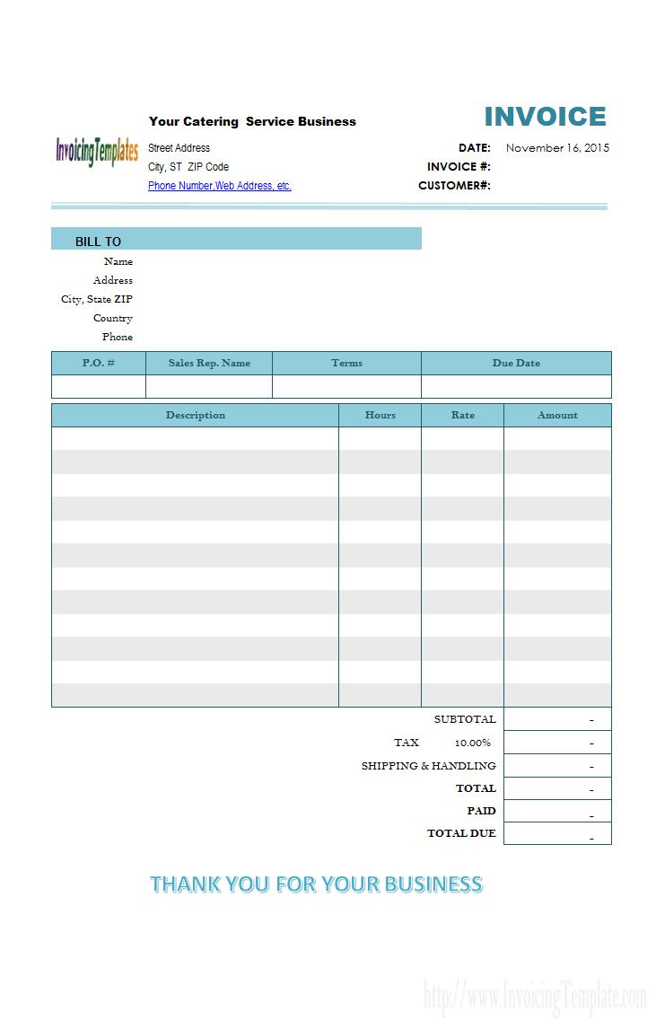 Microsoft Office Sales Invoice Template