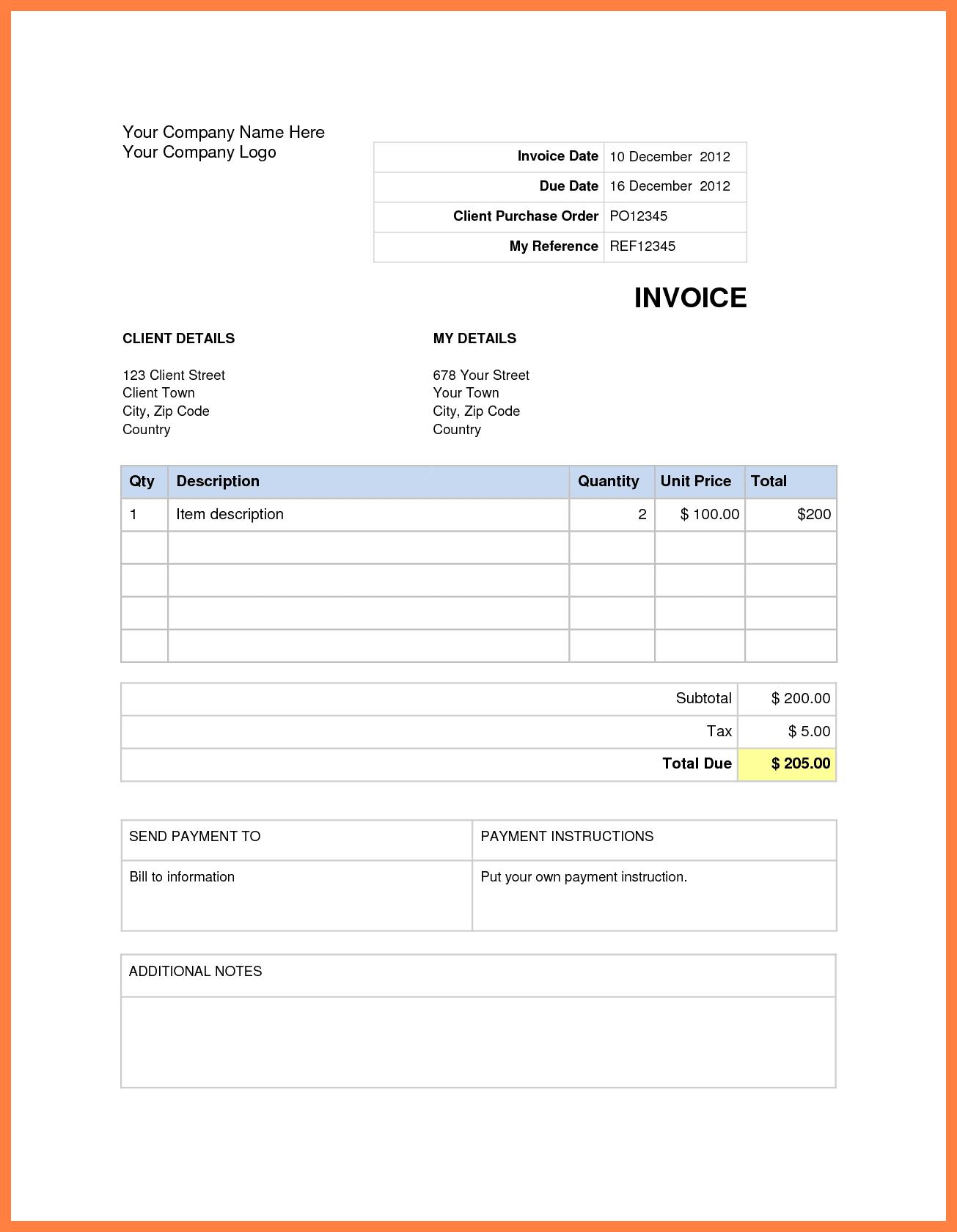 Microsoft Word 2010 Invoice Template Invoice Templates For Microsoft Word Spreadsheet Templates for Busines Spreadsheet Templates for Busines Free Invoice Templates For Microsoft Word
