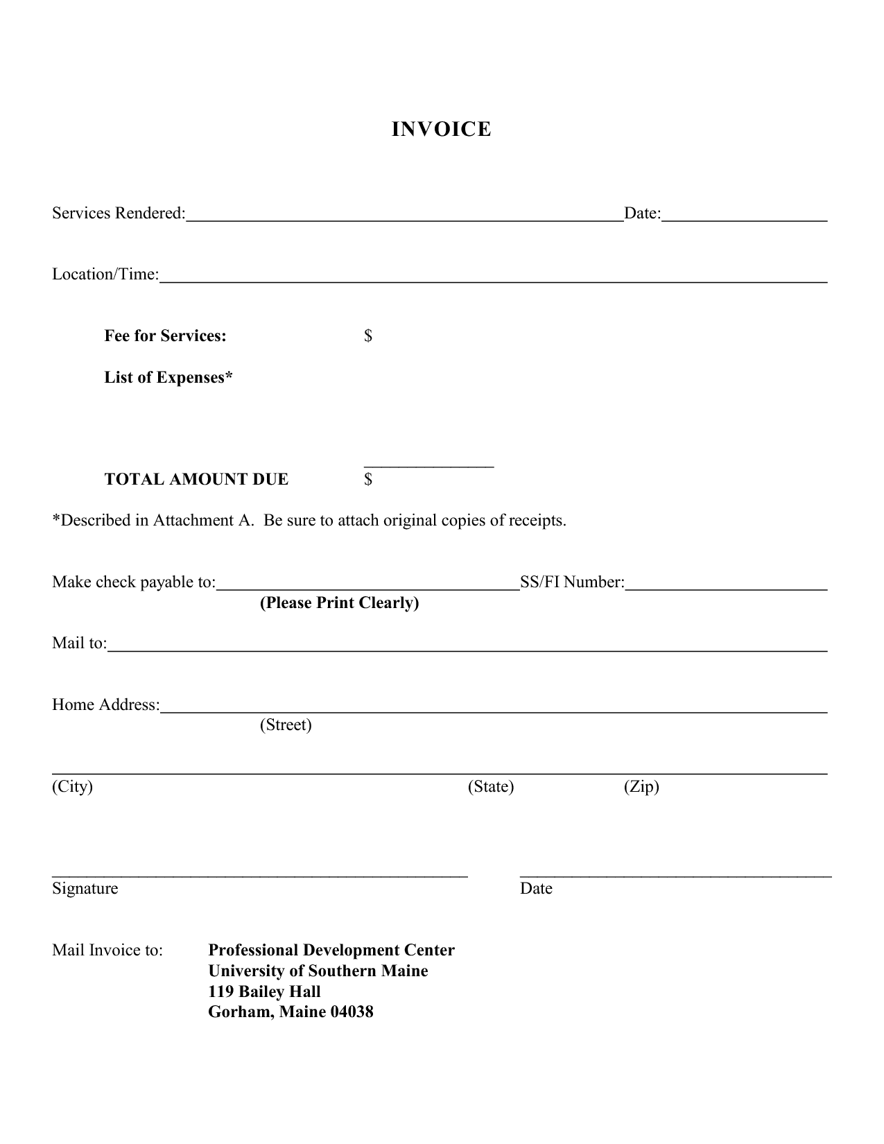 Microsoft Word Consulting Invoice Template