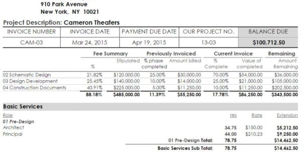 Monthly Invoice Template Free Words