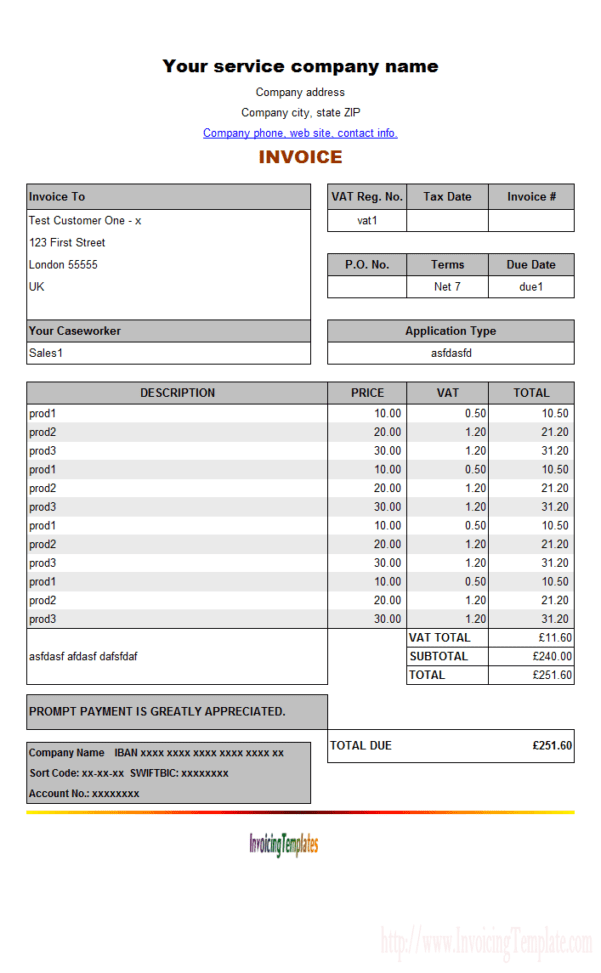 Open Office Invoice Templates Spreadsheet Templates for Busines Microsoft Word Billing Invoice ...