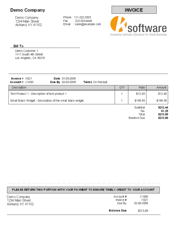 Payment Invoice Template Excel