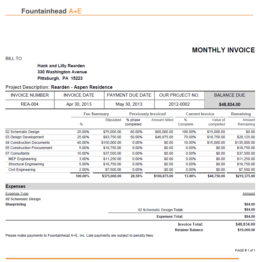 Monthly Invoice Template — excelxo.com
