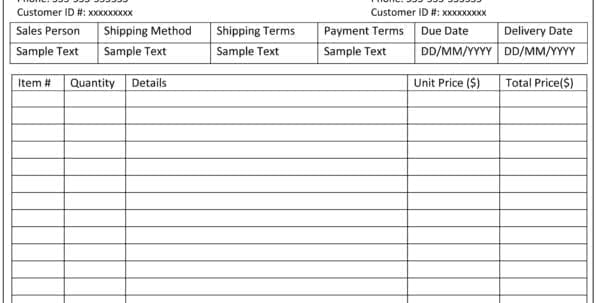 Photography Invoice Template Uk