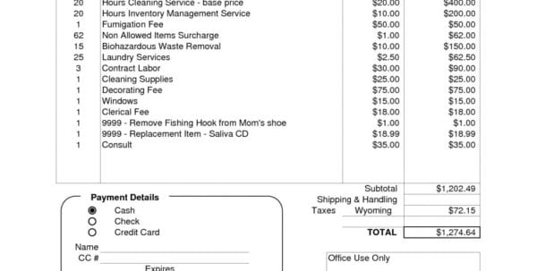Printable Handyman Invoice Handyman Invoice Spreadsheet Templates for Business
