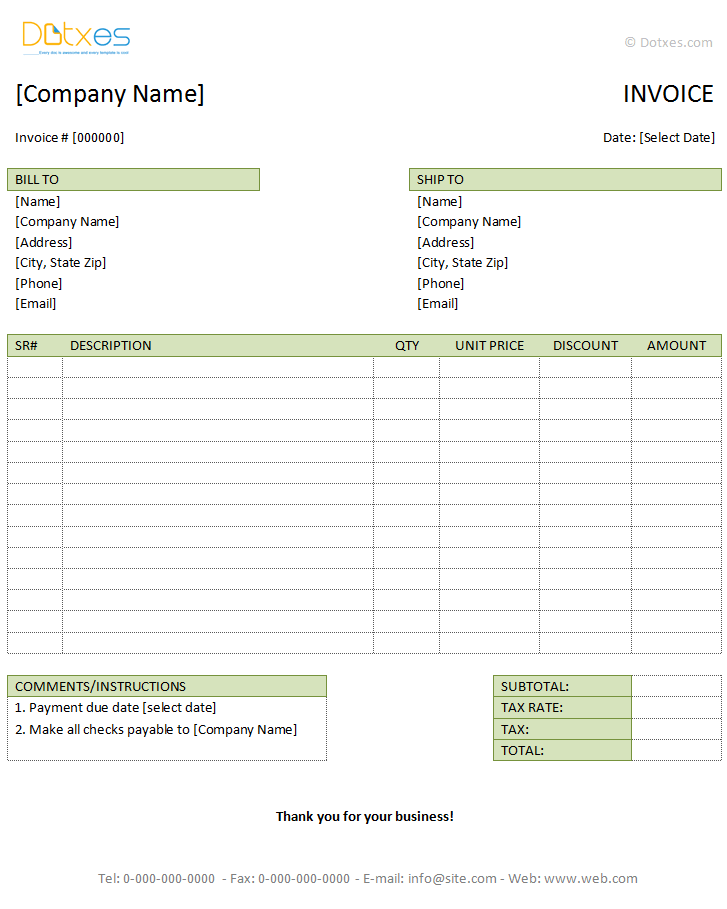 Professional Invoice Template Word