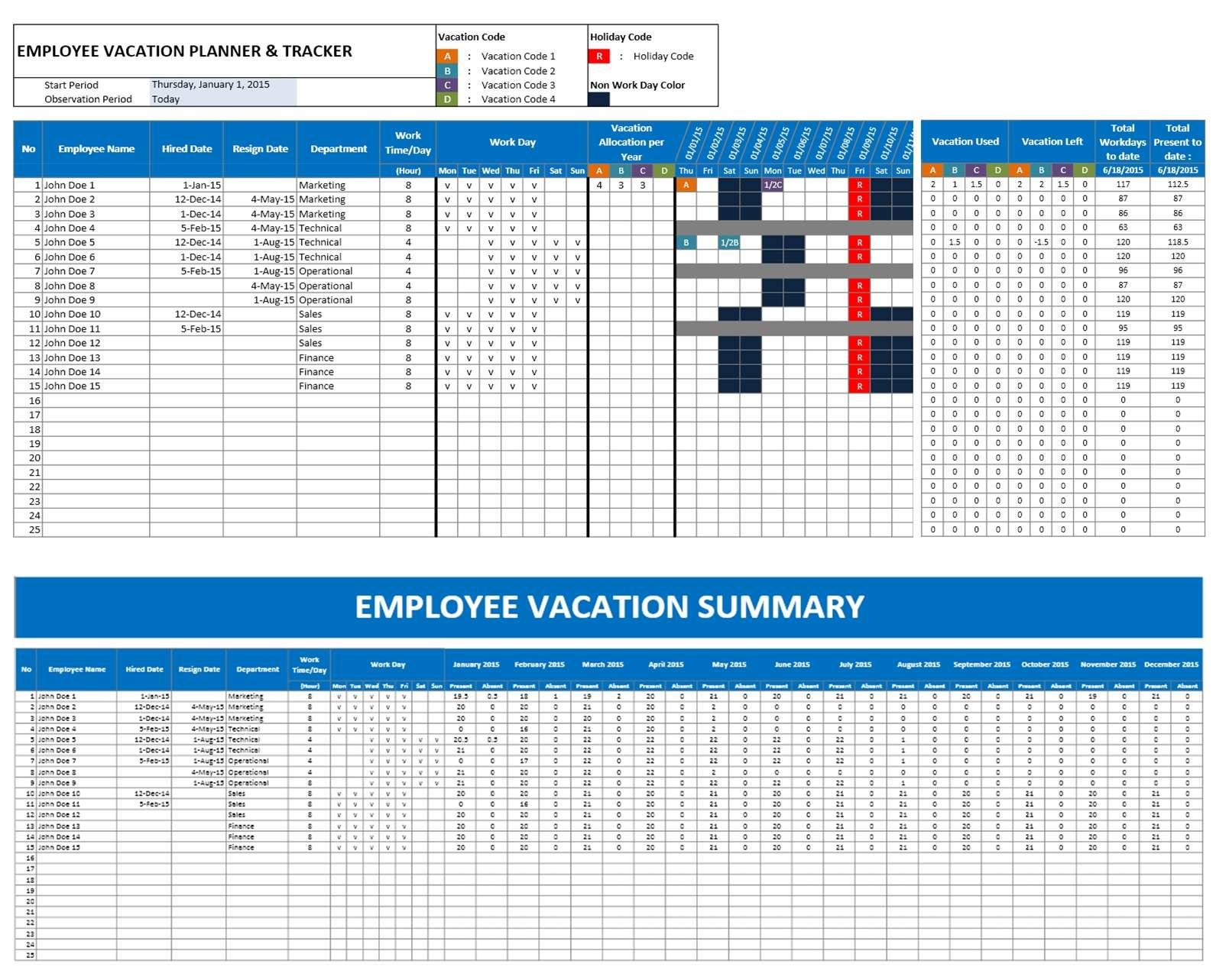 Project Management Excel Templates