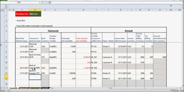 Quickbooks Excel Template Bookkeeping Excel Templates Spreadsheet Templates for Business