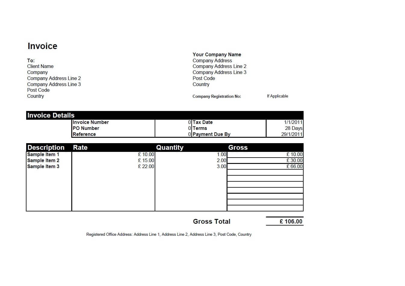 Quickbooks Invoice Sample Invoice Template Quickbooks Spreadsheet Templates for Busines Spreadsheet Templates for Busines Basic Invoice Template Free