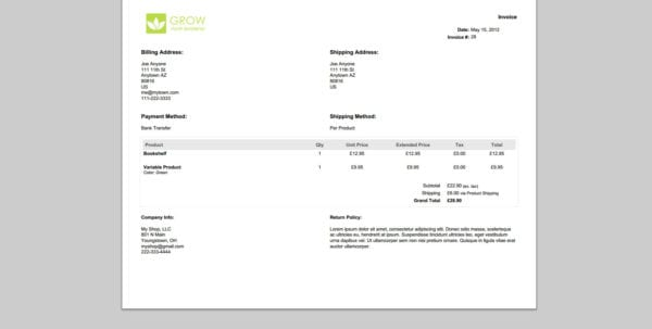 Quickbooks Invoice Template Download Free