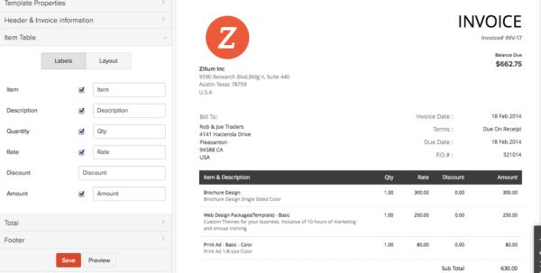 Quickbooks Online Invoice Template