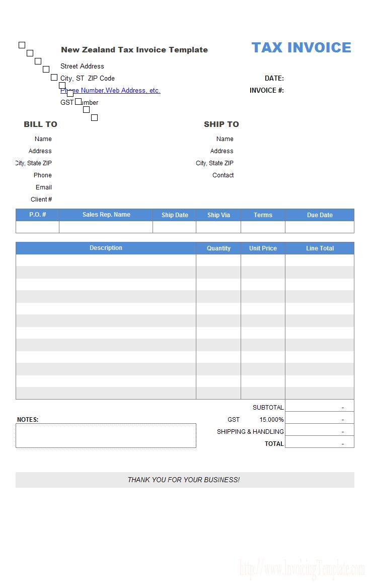 Rental Invoice Sampl