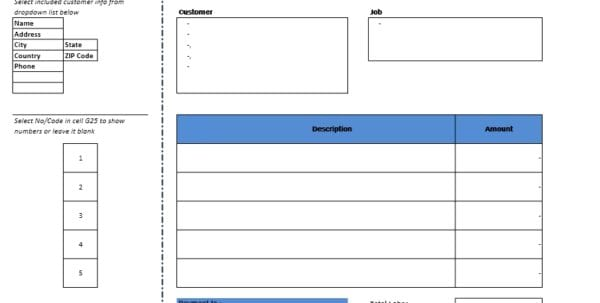 Rental Statement Template