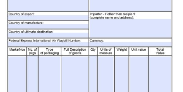 Shipping Invoice Template Word