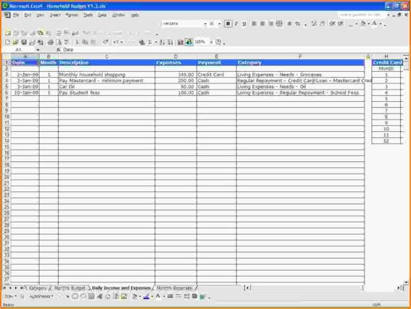 Simple Spreadsheet For Income And Expenses