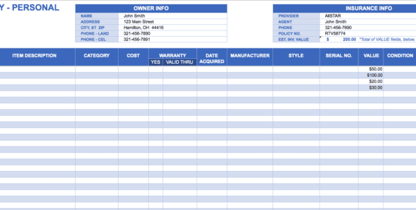 Small Business Spreadsheet For Income And Expenses 1