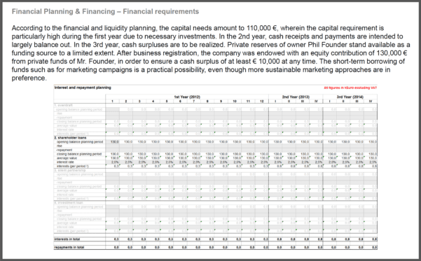 Startup Financial Plan Template