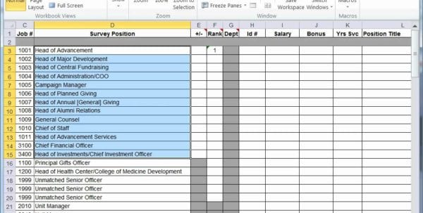 Survey Tracker Spreadsheet Online
