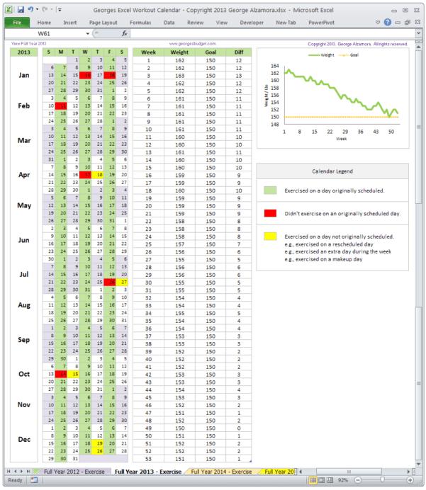 Training Spreadsheet Example