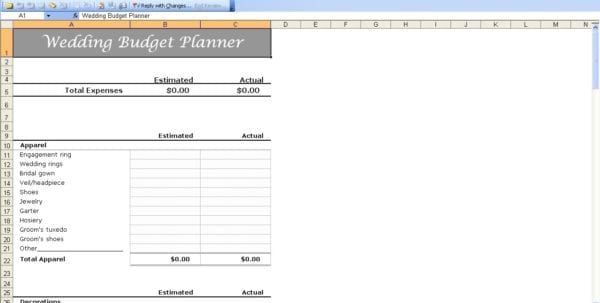 Wedding Budget Spreadsheet Wedding Spreadsheet Template Spreadsheet Templates for Business